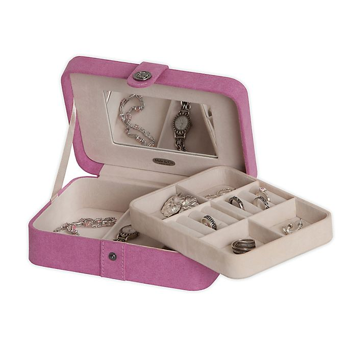 Alternate image 1 for Mele & Co. Giana Jewelry Box in Pink