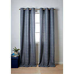 Wamsutta® Collective Windsor 2-Pack 84-Inch Contrast Stitch Window Curtain Panels in Denim