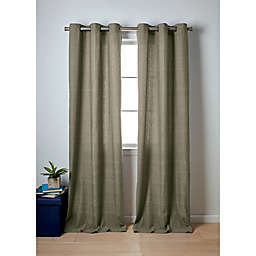 Wamsutta® Collective Windsor 2-Pack 63-Inch Contrast Stitch Window Curtain Panels in Olive