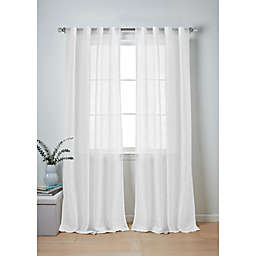 Wamsutta® Collective Whitney 2-Pack 84-Inch Rod Pocket Window Curtain Panels in White