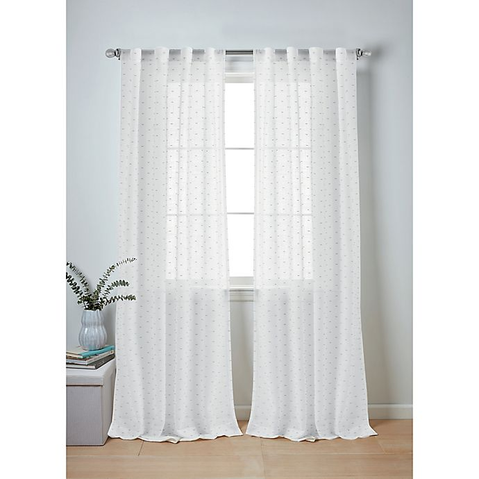 Alternate image 1 for Wamsutta® Whitney 2-Pack Rod Pocket Window Curtain Panels