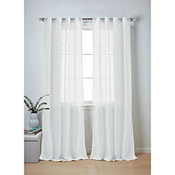 Wamsutta® Collective Whitney 2-Pack 63-Inch Rod Pocket Window Curtain Panels in Grey