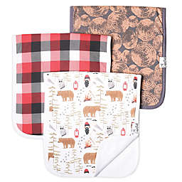 Copper Pearl™ 3-Pack Lumberjack Burp Cloths