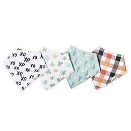 Copper Pearl 4-Pack Holiday  Bandana Bibs