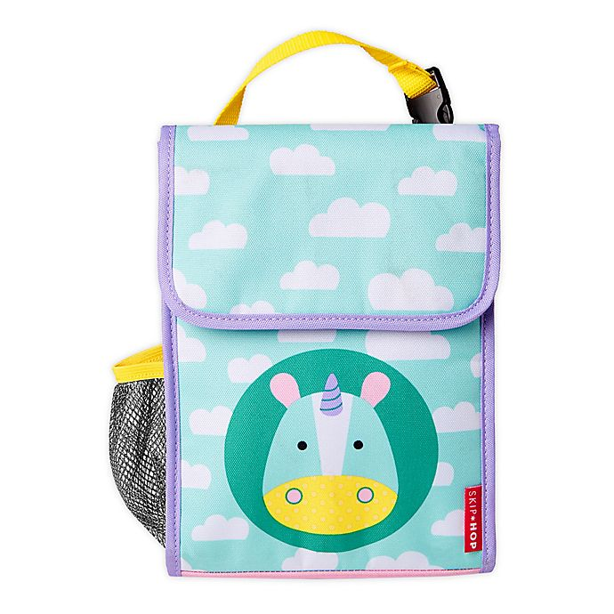 Alternate image 1 for SKIP*HOP® Zoo Lunchies Insulated Lunch Bag in Unicorn