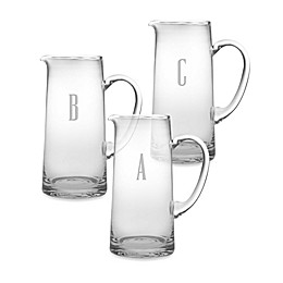 Susquehanna Glass Monogrammed Block Letter Pitcher