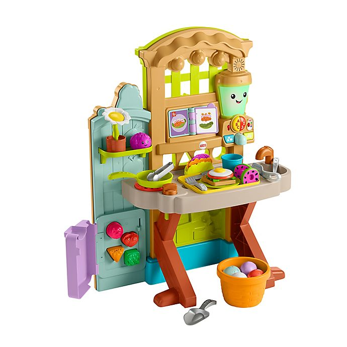 Alternate image 1 for Fisher Price® Laugh & Learn® Grow-the-Fun Garden to Kitchen