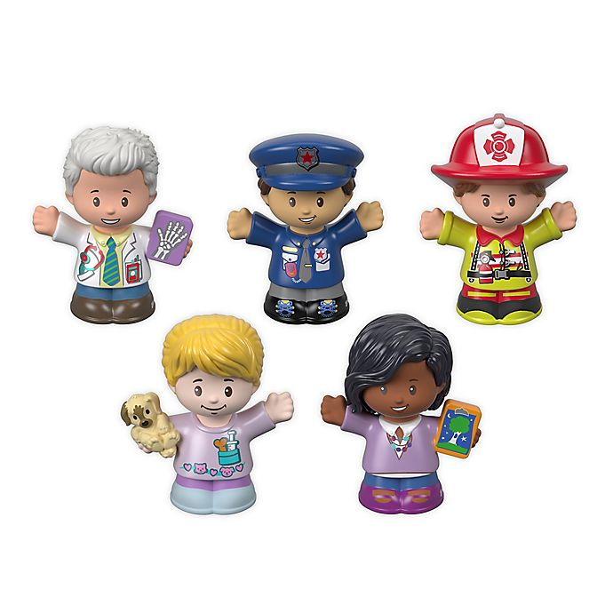 Alternate image 1 for Fisher-Price® Little People 5-Pack Community Helpers Figures
