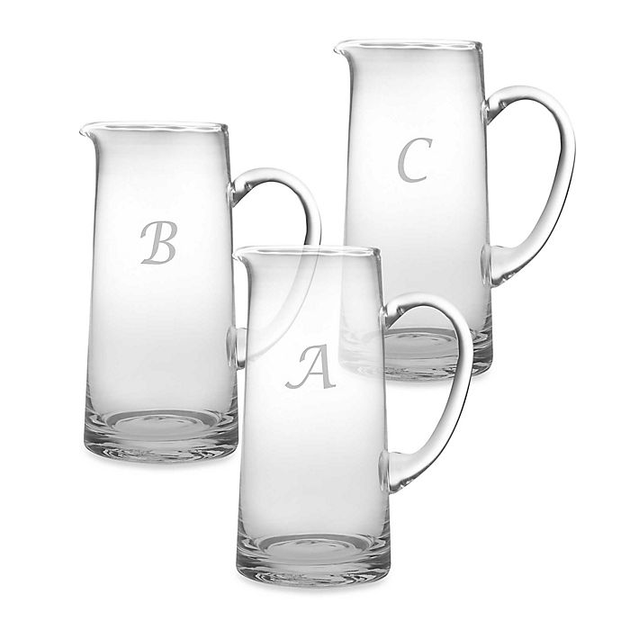 Alternate image 1 for Susquehanna Glass Monogrammed Script Letter Pitcher