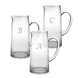 Susquehanna Glass Monogrammed Script Letter Pitcher