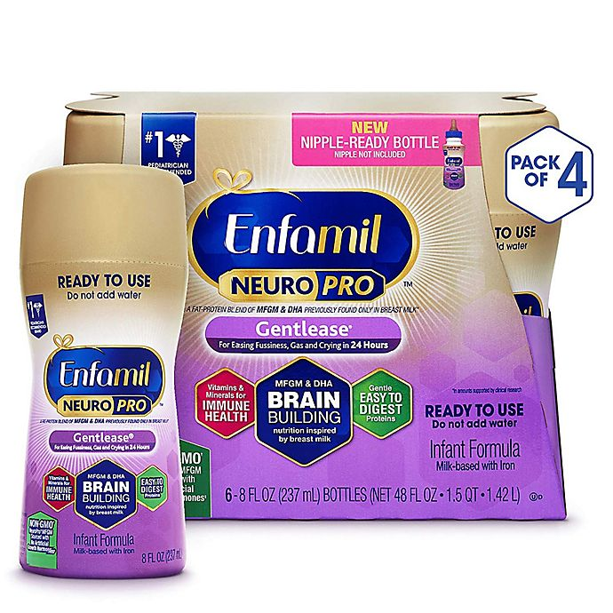 Alternate image 1 for Enfamil™ Gentlease® 6-Pack Ready-to-Feed Formula Bottles