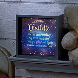 Bedtime Prayer Personalized LED Ivory Light Shadow Box Collection