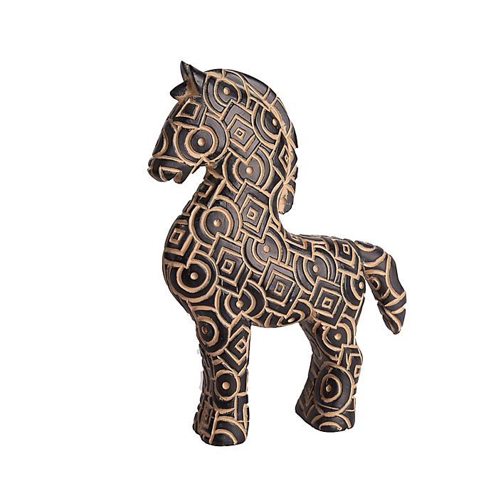 Alternate image 1 for Home Essentials & Beyond Pattern Horse Figurine in Brown