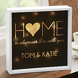 HOME With You Personalized LED Ivory Light Shadow Box Collection