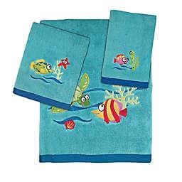 Fish Tails 3-Piece Bath Towel Set
