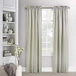 Commonwealth Home Fashions Ticking Stripe 63-Inch Curtain Panels in Sage (Set of 2)