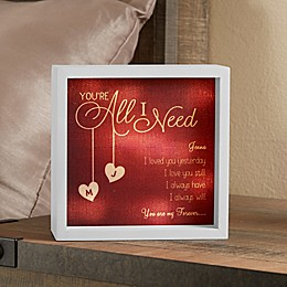 All I Need Personalized LED Ivory Light Shadow Box Collection