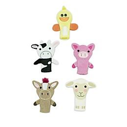 Capelli New York 5-Piece Farm Animal Finger Puppet Set