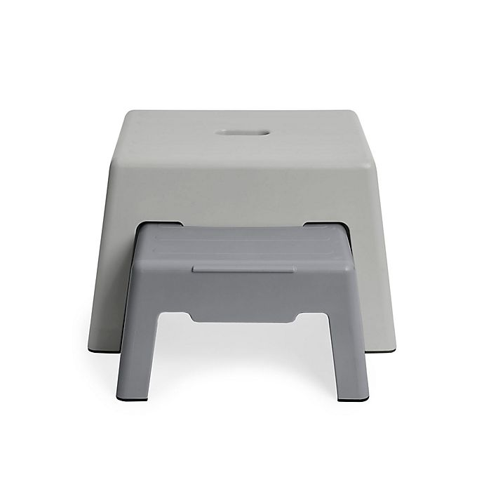 Alternate image 1 for SKIP*HOP® Large Double-Up Step Stool in Grey