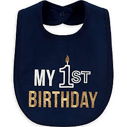 "carter's® ""My 1st Birthday"" Bib in Navy"