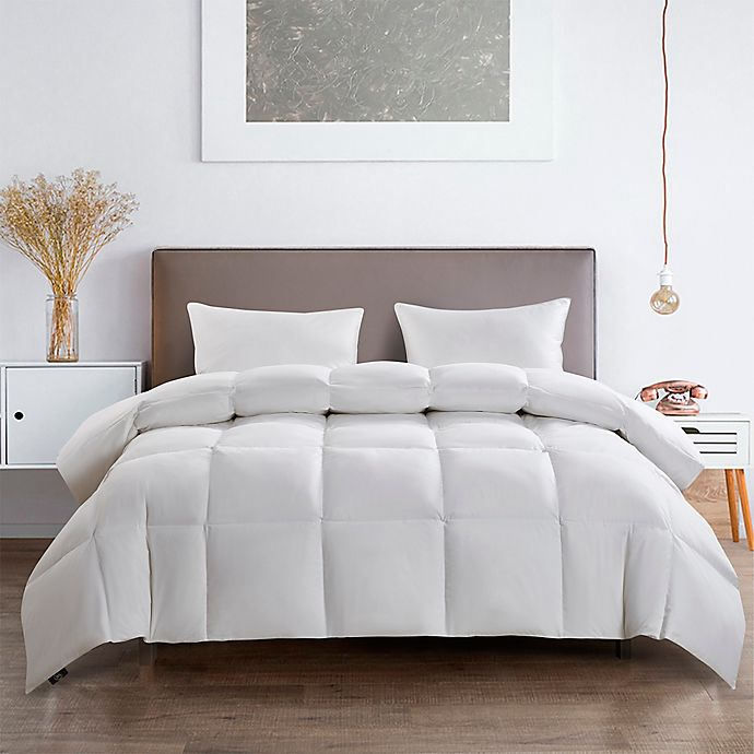 Alternate image 1 for Serta® All-Season Goose Feather and White Goose Down Full/Queen Comforter in White
