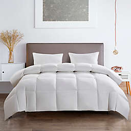 Serta® All-Season Goose Feather and White Goose Down Full/Queen Comforter in White
