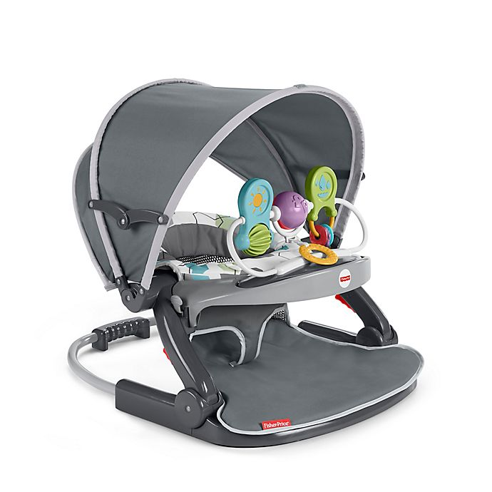 Alternate image 1 for Fisher-Price® Sit-Me-Up On-the-Go Floor Seat in Grey