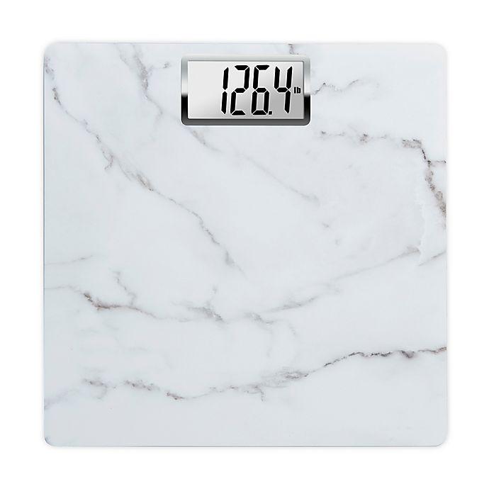 Alternate image 1 for HoMedics® Carrara Marble Digital Bathroom Scale in White