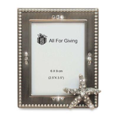 All For Giving Starfish Metal And Crystal Photo Frame