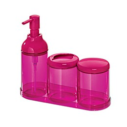 iDesign Finn 4-Piece Bath Accessories Set
