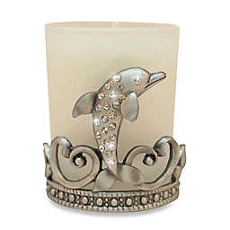 All For Giving Dolphin Metal and Crystal Votive Candleholder
