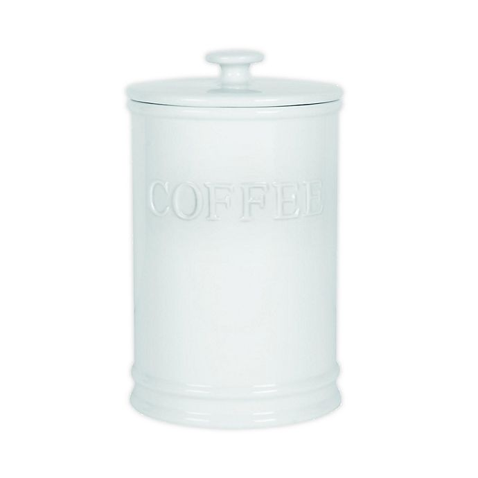 Alternate image 1 for Everyday White® by Fitz and Floyd® Bistro Coffee Canister