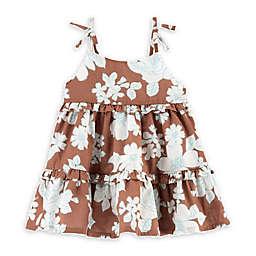 OshKosh B'gosh® Floral Faux Tie Summer Dress in Brown