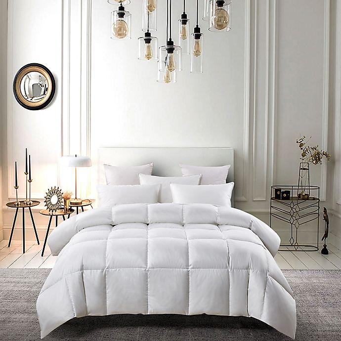 Alternate image 1 for Serta® Extra-Warm White Goose Feather Fiber and White Goose Down Fiber King Comforter in White
