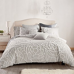 Peri Home Chenille Rose Full/Queen Comforter Set in Grey