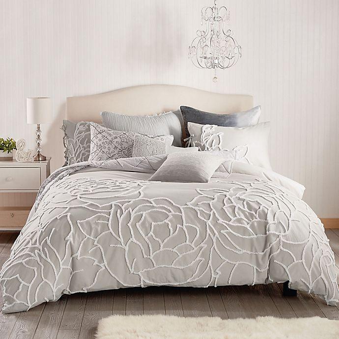 Alternate image 1 for Peri Home Chenille Rose Full/Queen Comforter Set in Grey