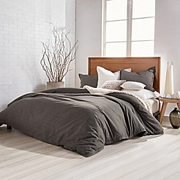 DKNY PURE Flannel Duvet Cover in Charcoal