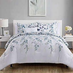 VCNY Home Hailey Comforter Set in Blue/White