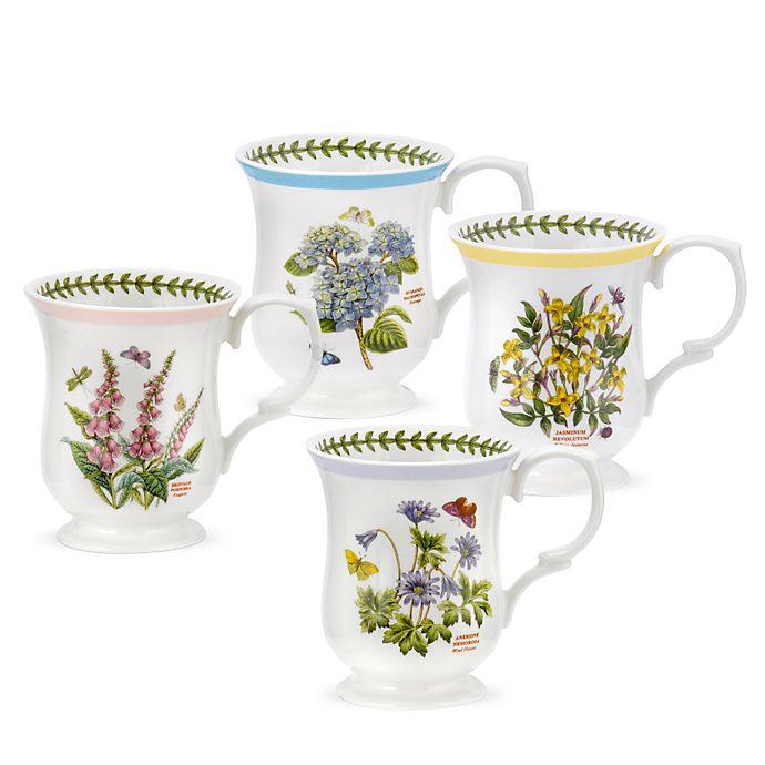 Alternate image 1 for Portmeirion Botanic Garden Terrace Bell Shape Mugs (Set of 4)