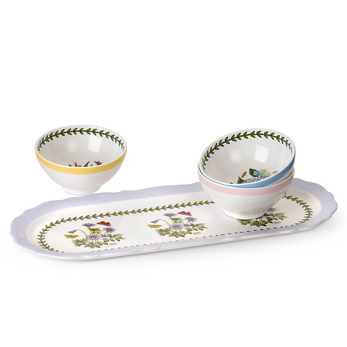 Alternate image 1 for Portmeirion Botanic Garden Terrace Sandwich Tray and Dip Dishes