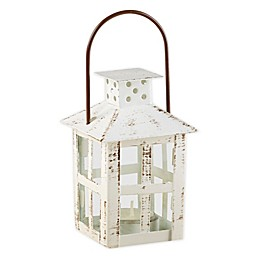 Kate Aspen® Small Vintage Distressed Lantern in White