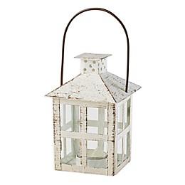 Kate Aspen® Medium Vintage Distressed Lantern in White