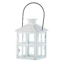 Kate Aspen® Vintage Distressed Lantern in White