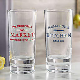 Family Market Personalized 15 oz. Tall Drink Glass