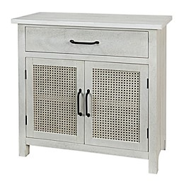Bee & Willow™ Home Cane Console Table in White Wash