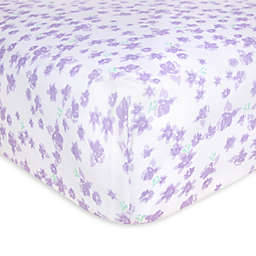 Burt's Bees Baby® Ditsy Rose Organic Cotton Fitted Crib Sheet in Hyacinth