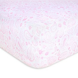 Burt's Bees Baby® Paisley Organic Cotton Fitted Crib Sheet in Blossom