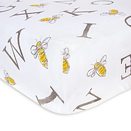 Burt's Bees Baby® A-Bee-C Organic Cotton Fitted Crib Sheet in Charcoal