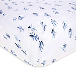 Burt's Bees Baby® In the Pines Organic Cotton Fitted Crib Sheet in Cloud