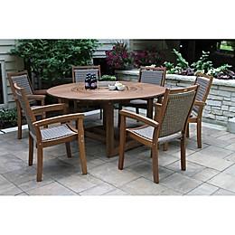 Outdoor Interiors® Eucalyptus Wicker Outdoor Furniture Collection